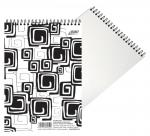Blok BOBO Black & White se spirálou - A4 / linka