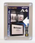 Informační rámeček na sklo A4, šedý