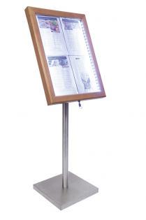 Informační zasklená tabule Teak 4 x A4