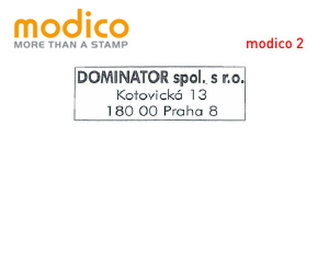Modico 2 | 40x14 mm | max. 3 řádky