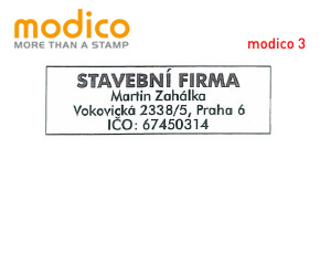Modico 3 | 52 x 18 mm | max. 4 řádky
