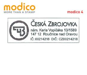 Modico 4 | 60x23 mm | max. 5 řádků